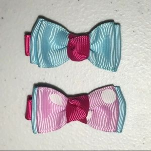 Bag of 10 Sets of Pink, Hot Pink & Blue Hair Clips